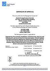 CAE ISO Certificate