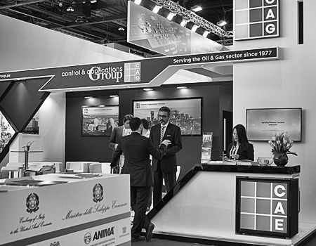 CAE stand at ADIPEC 2016